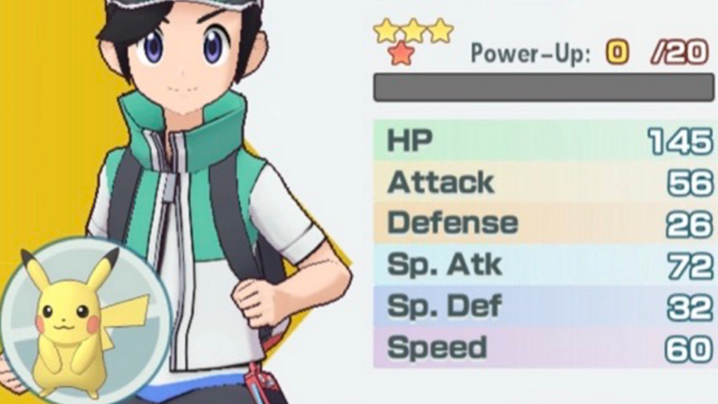 Pokémon Masters Gameplay Stats