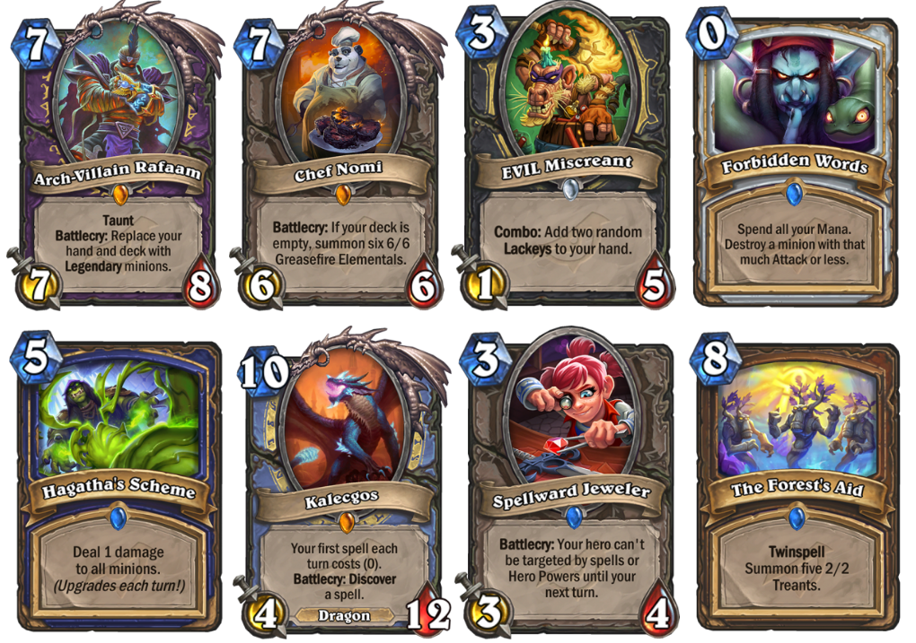 Hearthstone Rise of Shadows EVIL Cards