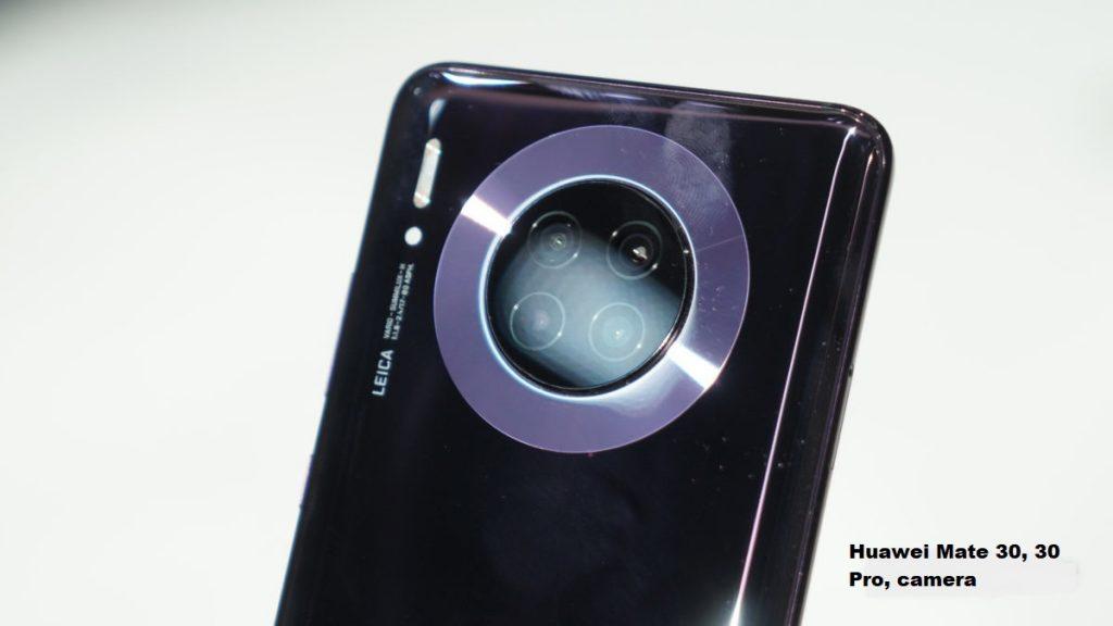 Huawei Mate 30, 30 Pro, 30 RS camera