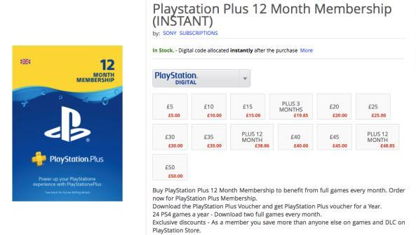 Play station plus subscription
