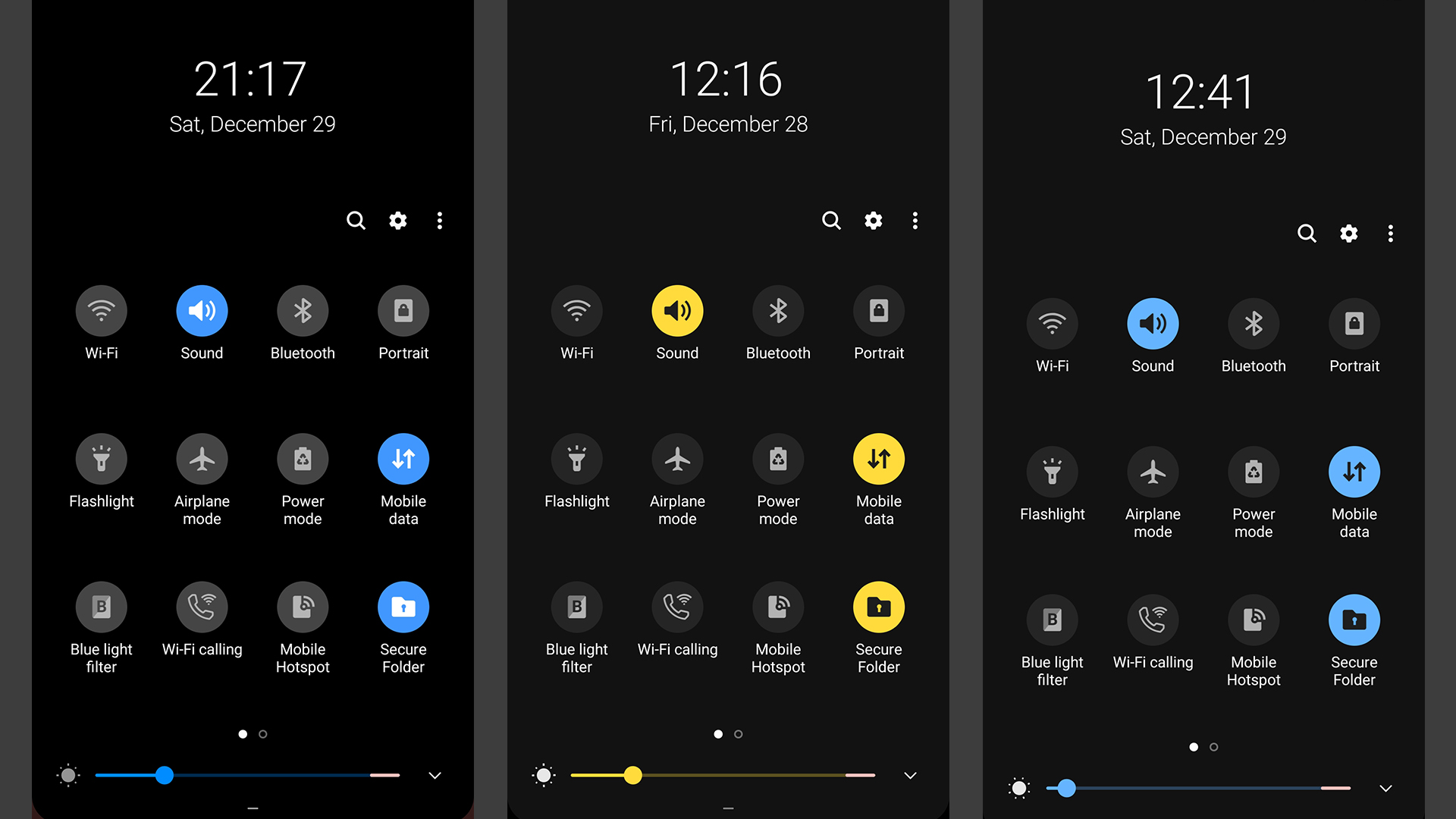 Samsung One UI Dark Mode
