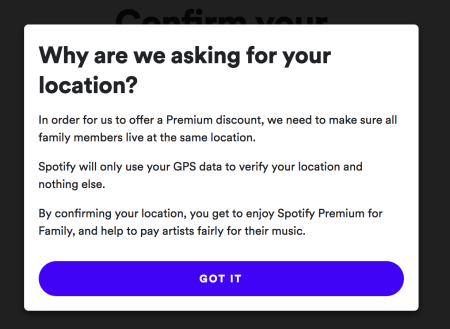 Spotify Location Policy