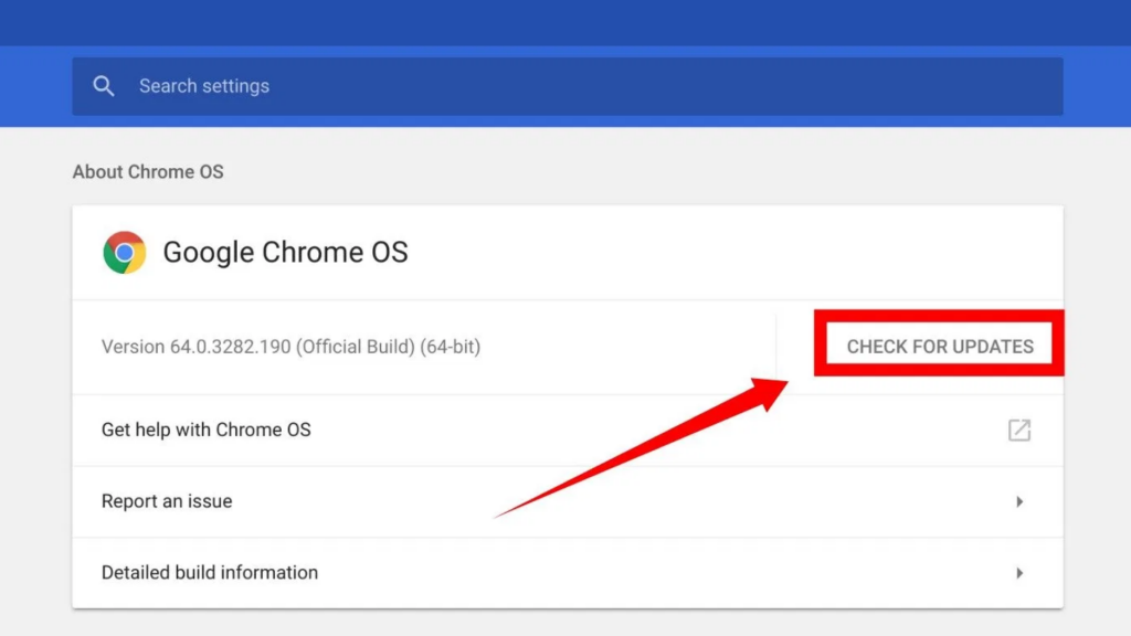 Check Chrome Version and Update