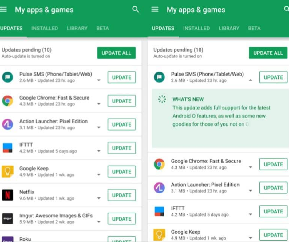 Update Google Chrome manually on Android