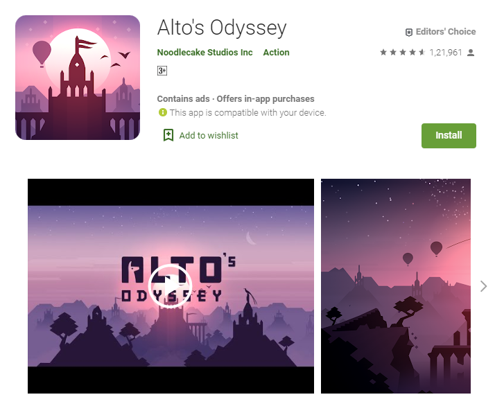 Best Adventure Games for Android Alto's Odyssey