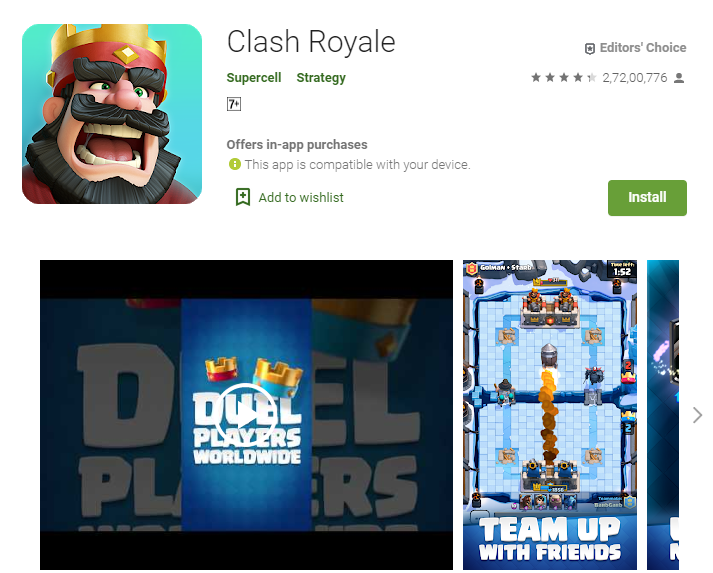 Best Adventure Games For Android - Clash Royale