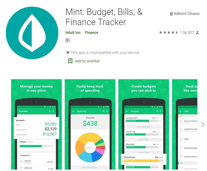Mint Budget, Bills, & Finance Tracker
