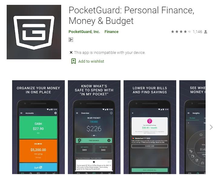 PocketGuard Money Saving app