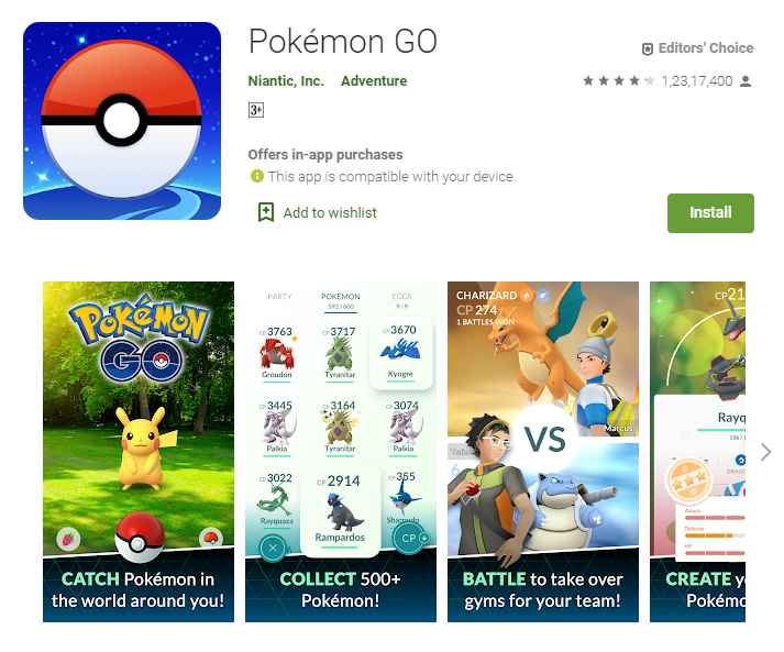Best Adventure Games For Android - Pokemon Go