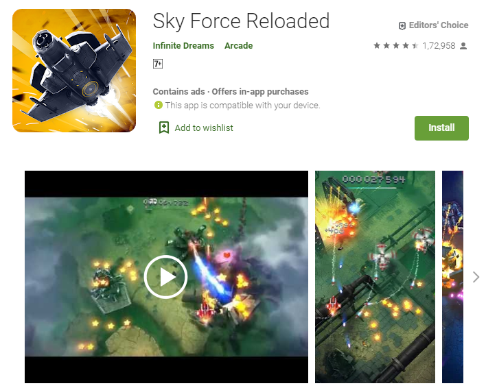 Best Adventure Games for Android | Sky Force Reloaded