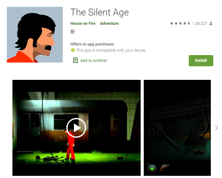 Best Adventure Games for Android - The Silent Age