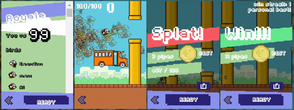 what's similar in flappy royale and flappy bird
