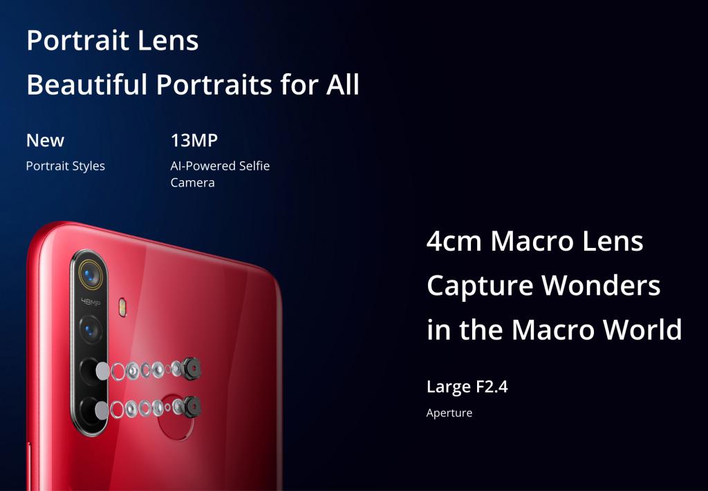 Realme 5S Macro lense