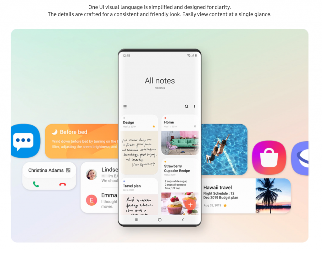 Samsung Reveals One UI 2.0 Roadmap