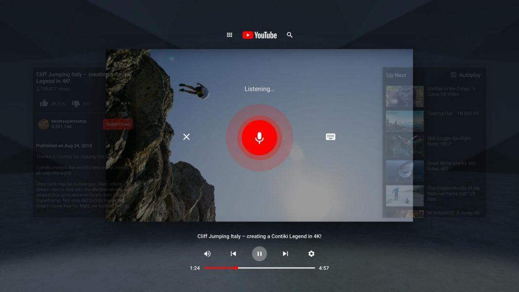 YouTube Virtual Reality App