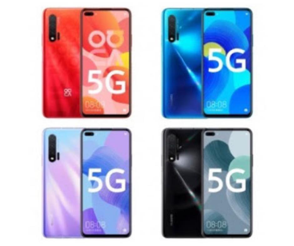 Huawei Nova 6 Color options