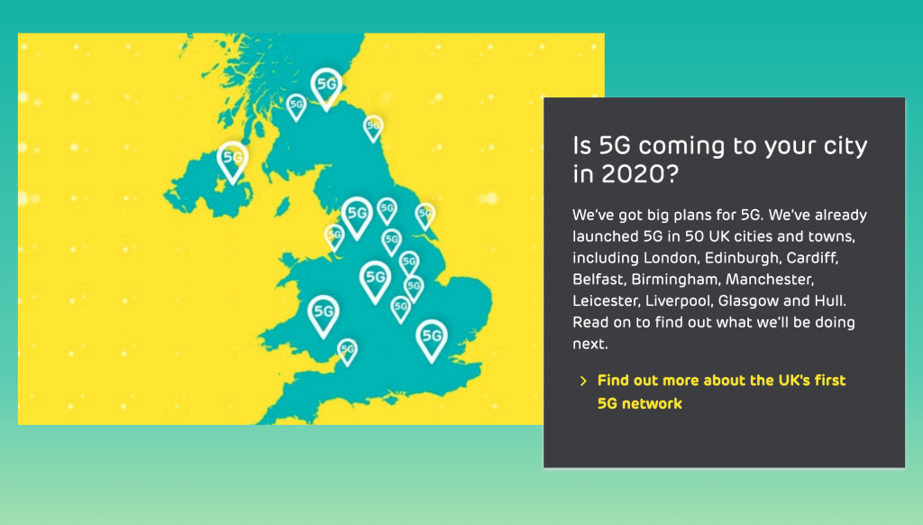 EE's Switches On 5G Network