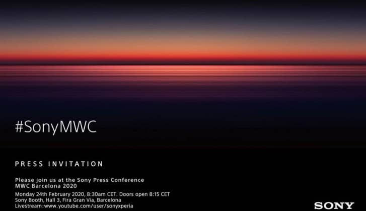 Sony MWC Press Invite