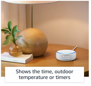 Echo Dot With Clock Feat