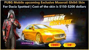 Exclusive Maserati Ghibli Skin for Dacia